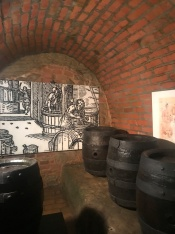 Tour of the tunnels under Pilsen, they kept and brewed beer under each house
