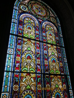 stained glass in synagogue