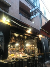 Really good cheese and meat shop in Via Pescherie Vecchie, Bologna