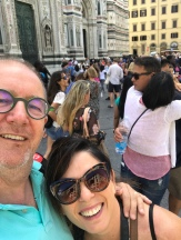 Basilica of Saint Mary of the Flower, Piazza di San Giovanni with Alli and Michael showing some love