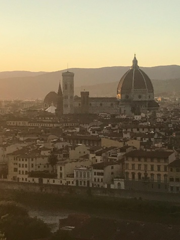 View from Piazza di Michaelangelo at sunset