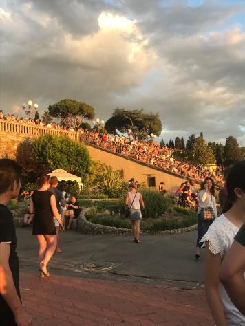 Watching the sunset from Piazza Michaelangelo was not an original idea.