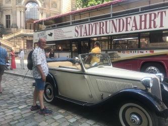 old car, old guy