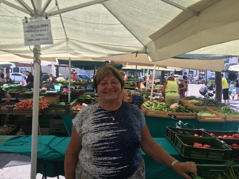 Lovely lady in the market