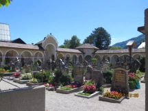 Even the cemetery in Austria is pretty awesome and so neat and beautiful