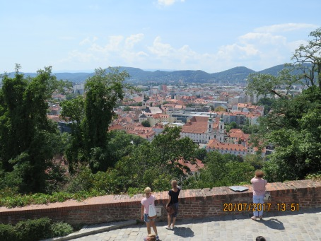 Beautiful views from the Schloss in Graz