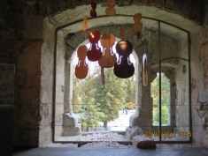 an exhibition of artists including violin makers in the castle
