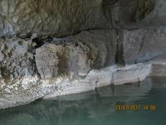 the lake inside Krizna caves