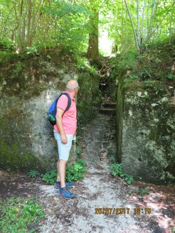 Remnants of the third line Italian defense from WW1
