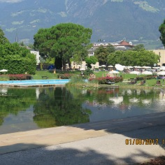 What a stunning setting for a public pool, Merano