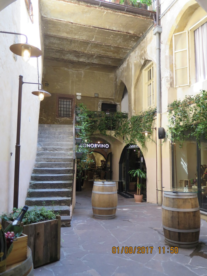 Entrance to a wine bar at Merano