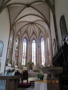 Interior of St Nicholas Church in Merano
