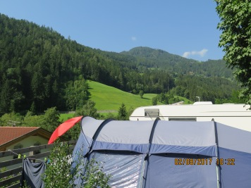 View from the camp site at Camp Zogghof