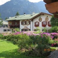 Rose gardens in Oberammergau
