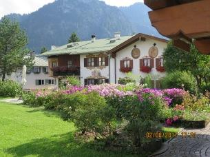 Rose gardens in Oberammergau