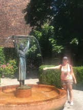 my other fascination is fountains, this is Mozarts sister, apparently