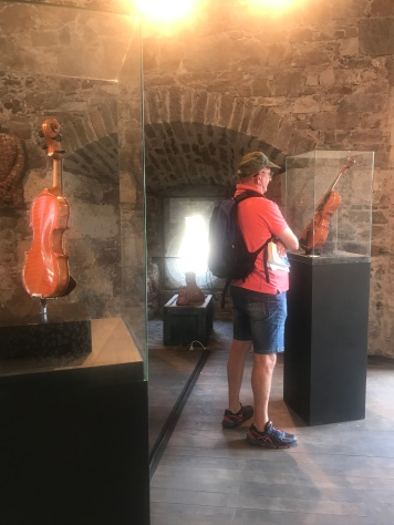 Violin exhibition at Ljubljana Castle