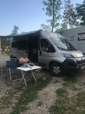 Chilling at Saksida camp site in Vipava