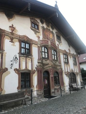 Frescoed buildings in Oberammergau