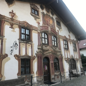Frescoed buildings in Oberammergau