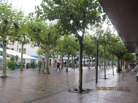 And the rain came pouring down in Hondarriba, Spain
