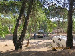 Beautiful calm camp sites in Nuévalos