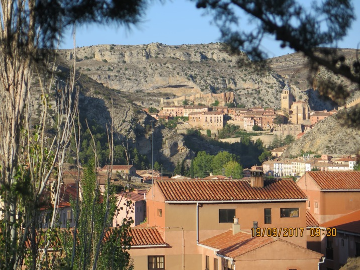 View from campsite to Albarracín