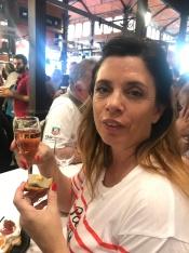 drinking cava at Mercado de san Miguel