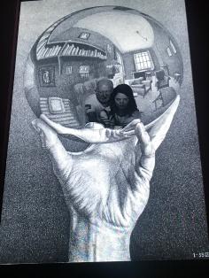 Interactive pics at the Escher exhibit