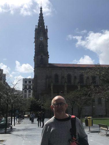 Iglesia de San Ignacio in the background, Gros: San Sebastiáb