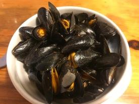 Mussels at Itsaspe, Hondarriba, Spain