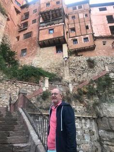 Quite steep climb to get into the village square, Albarracín, Spain