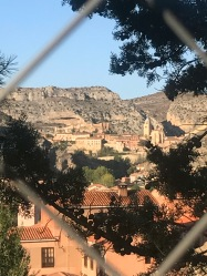 View from our pitch, Ciudad Albarracín
