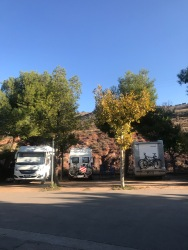 Motorhomes on the pitches, Albarracín