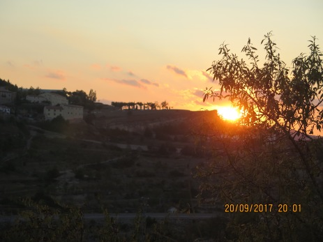 Sunset at Morella Spain