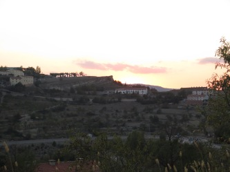View across to Morella, Spain