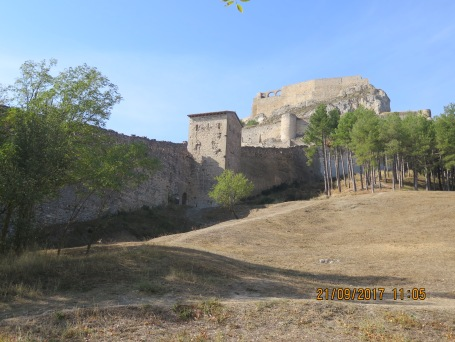 The castle wall at Morella Spain