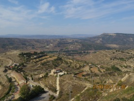 Beautiful view from the castle in Morella, Valencia province Spain