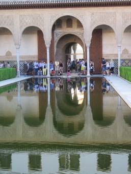 If you can look past the millions of tourists, can you imagine the stillness of these courtyards, in Nasrid Palace, Alhambra Granada