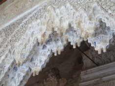 Amazing ceiling detail in Nasrid Palace, Alhambra Granada