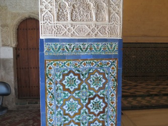 Mosaic details in Nasrid Palace, Alhambra Granada