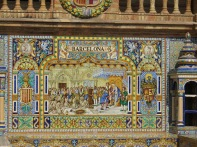 Barcelona alcove, Plaza de España, Seville. the guide joked they were thinking of removing it :-(