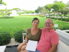 A quick coffee at the clubhouse, Vale Do Lobo