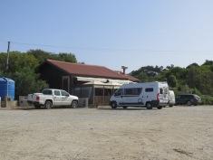 Beach shack along the coast