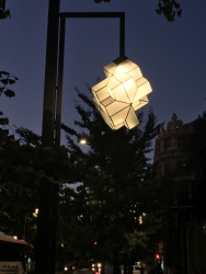 Chris's favourite street lamp in Granada