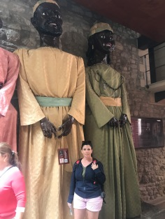 These are used at fiesta time to parade thru the streets, Morella Spain