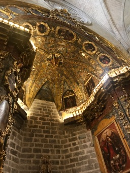Inside the beautiful Santa Maria Basilica, Morella Spain