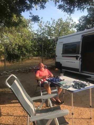 L'Orangeraie Camp site, Calíg, Spain