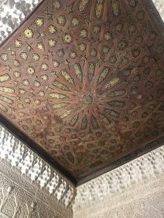 The magnificent wooden ceilings at Nasrid Palace, Alhambra Granada