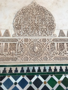 Up close in Nasrid Palace, Alhambra Granada